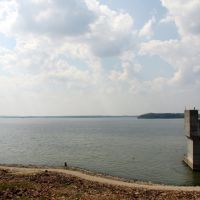 Clinton Lake, dam view, Овербрук