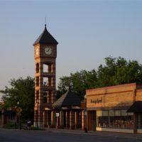 clock tower, downtown Overland Park,KS, Оверленд-Парк
