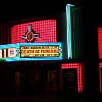 RIO theater neon lights- south and east sides, neon in glass block, Overland Park, KS, Оверленд-Парк
