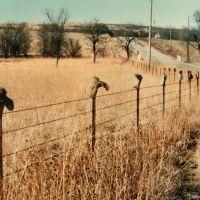 """Boot fence"",  near Manhattan, Kansas, mar 4, 1994, Огден"