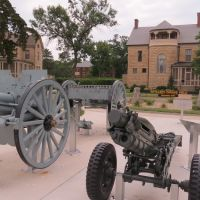 Horse-drawn guns on 1890 parade ground addition to Fort Riley, KS, Огден