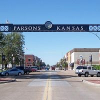 Main Street, Parsons, Labette County, Kansas, Парсонс