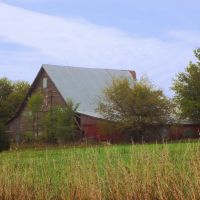 Red Barn near Big Springs, KS, Перри