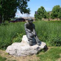 Prairie Boy, life-size bronze,Prairie Village,KS, Прейри-Виллидж