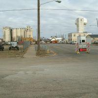 Santa Fe Ave., Railroad repair, South detour. Salina Kansas, January 12, 2012, Салина