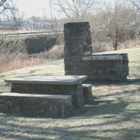 Oakdale Park, BBQ chimney, looking towards Salina's Kenwood Cove Aquatic Park, Салина