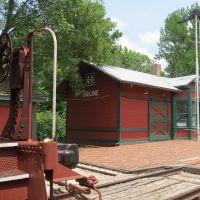 1910 ATSF Pauline Depot at Prairie Village on Ward-Meade City Park, Topeka, Ks, Топика