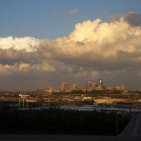 Downtown Kansas City, MO skyline from Strawberry Hill area of Kansas City, KS, Файрвэй