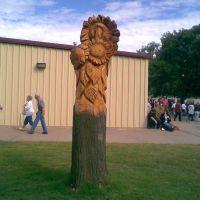 Sunflower Tree Carvings,Kansas State Fair 2008,Hutchison,Kansas,USA, Хатчинсон