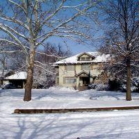 Snowy day in Hutch, Хатчинсон