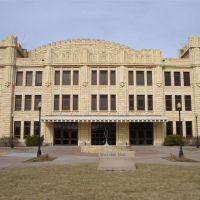 Sheridan Colliseum, limestone building, Fort Hays State University, Hays, KS, Хэйс