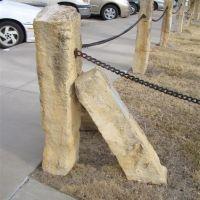 limestone fenceposts on Fort Hays State campus, Hays, KS, Хэйс