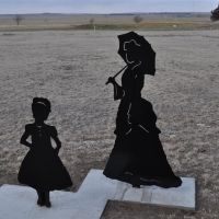 girl and lady silhouettes, Fort Hays, Hays, KS, Хэйс