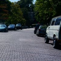 Brick pavement on Jerome Street - Mt. Adams - Cincinnati, Ohio, Ньюпорт