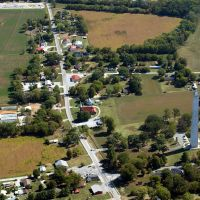 Aerial View of Jefferson Davis Monument & Fairview, KY, Пемброк