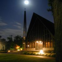 The Chapel at night -  Louisville Presbyterian Theological Seminary  Summer 2000, Сенека-Гарденс