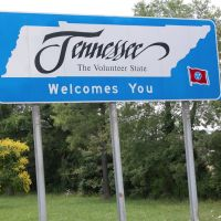 """Tennessee Welcomes You"" Sign, Entering Tennessee on Interstate 65, Southbound, Трентон"