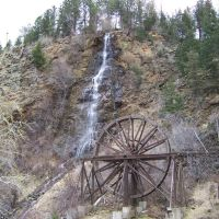 Bridal Veil Falls and Water Wheel, Айдахо-Спрингс