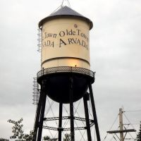 Olde Town Arvada, Colorado water tower, Арвада