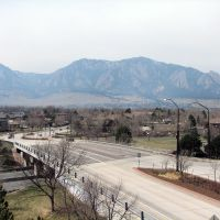 View from atop RTD Park n Ride in South Boulder., Аурора