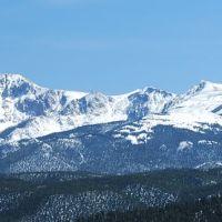 Pikes Peak from Woodland Park High School, Вудленд-Парк
