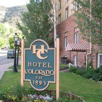 Hotel Colorado Sign, Гленвуд-Спрингс