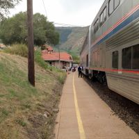 A breath of fresh air… hmm, I smell a sewage treatment plant nearby. At Glenwood Springs Amtrak (GSC)., Гленвуд-Спрингс