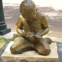 Little Hands of Peace, life-size bronze, Greeley, CO, Грили