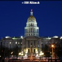 Colorado State Capitol at Night, Денвер