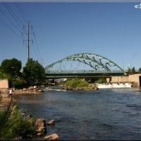 South Platte River and Speer Boulevard Bridge, Денвер