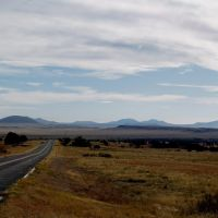 View of Raton-Clayton Volcanic Field from near Capulin Volcano, Лас-Анимас