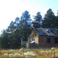 old abandoned schoolhouse in the foothills of the Spanish Peaks, Лас-Анимас