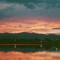 sunset over Lake Rhoda, Lakeside Amusement Park, Denver, Лейксайд