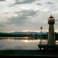 lighthouse on Lake Rhoda, Lakeside Amusement Park, Denver, Лейксайд