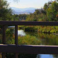 view to Golden & beyond along Clear Creek, Лейксайд
