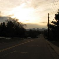 View west, down W. Lake Ave, late afternoon, 03-06-10, Литтлетон