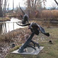 Geese sculptures in Hudson Gardens, Литтлетон