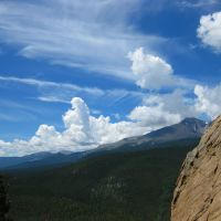 Clouds and Longs Peak from Jurassic Park above Lily Lake, Rocky Mountain National Park, Нанн