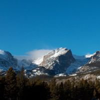 Hallett Peak and Glacier Basin, Rocky Mountain National Park, Colorado, Нанн