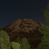 Mount Olympus in the Moonlight, Rocky Mountain National Park, Estes Park, Colorado, Нанн