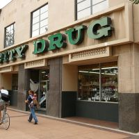 City Drug, Old Town, Fort Collins, Colorado, USA, Форт-Коллинс