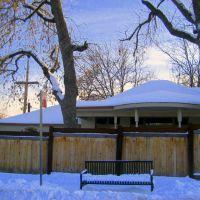 snowy bench, Эджуотер