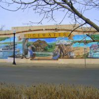 beautiful mural depiction of historic Edgewater, Эджуотер