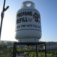 This fake propane tank is made of Styrofoam by myself - made in 2003., Данбури