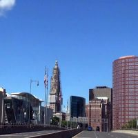 Downtown Hartford from Founders Bridge, Ист-Хартфорд