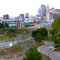 Hartford from Wilbur Cross Hwy, Ист-Хартфорд