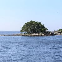 Small island off Fort Trumbull, Нью-Лондон