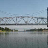 Gillis Long Bridge (Jackson Street) over Red River, Alexandria, LA, Александрия
