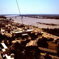 Blick auf den Mississippi in Baton Rouge, Lousiana, Батон-Руж