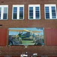 Mural of Charles Lindbergh., Богалуса